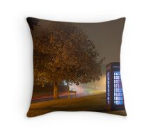 Glowing Phone Box Throw Pillow