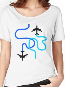 planes blue Women's Relaxed Fit T-Shirt