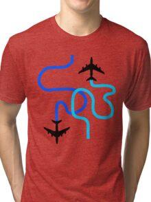 planes blue Tri-blend T-Shirt