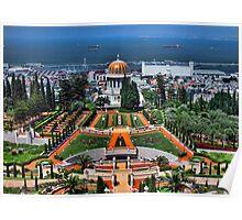 the bahai garden at Haifa  Poster