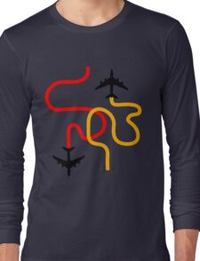 planes red Long Sleeve T-Shirt