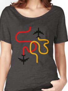 planes red Women's Relaxed Fit T-Shirt
