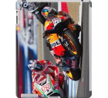 Dani Pedrosa and Nicky Hayden at laguna seca 2012 iPad Case/Skin