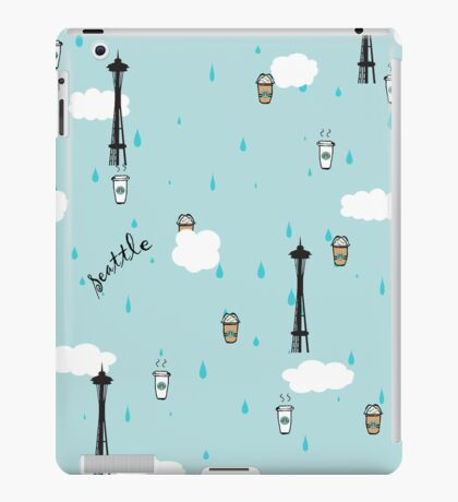 Seattle & Coffee (ipad) iPad Case/Skin