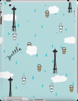 Seattle & Coffee (ipad) by skyekathryn