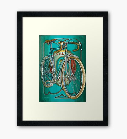 Aqua Carlton Fixed Framed Print