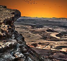 Ramon Crater, peak of Mount Negev in Israel by PhotoStock-Isra