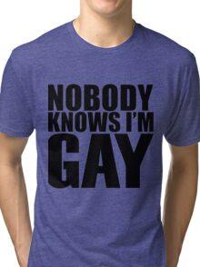 Nobody Knows I'm Gay Tri-blend T-Shirt