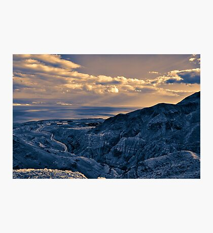 Israel, Dead Sea landscape view from Judea desert  Photographic Print