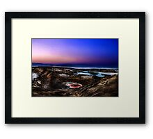 sink holes on the shore of the Dead Sea, Israel Framed Print