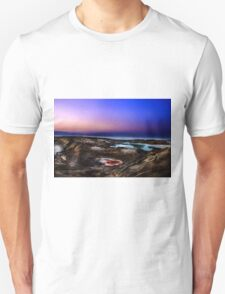 sink holes on the shore of the Dead Sea, Israel T-Shirt