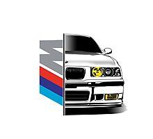 BMW E36 ///M  Photographic Print