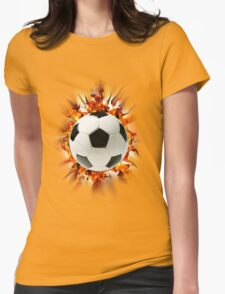 Flaming Soccer Ball - Shirt Womens Fitted T-Shirt