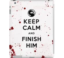 Keep Calm and Finish Him (clean version light colors) iPad Case/Skin