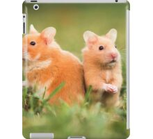 golden hamster pets on lawn iPad Case/Skin