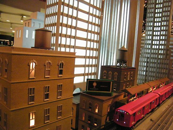Model Subway Trains, Model Buildings, New York Transit Museum Annex Train Show, Grand Central Terminal by lenspiro