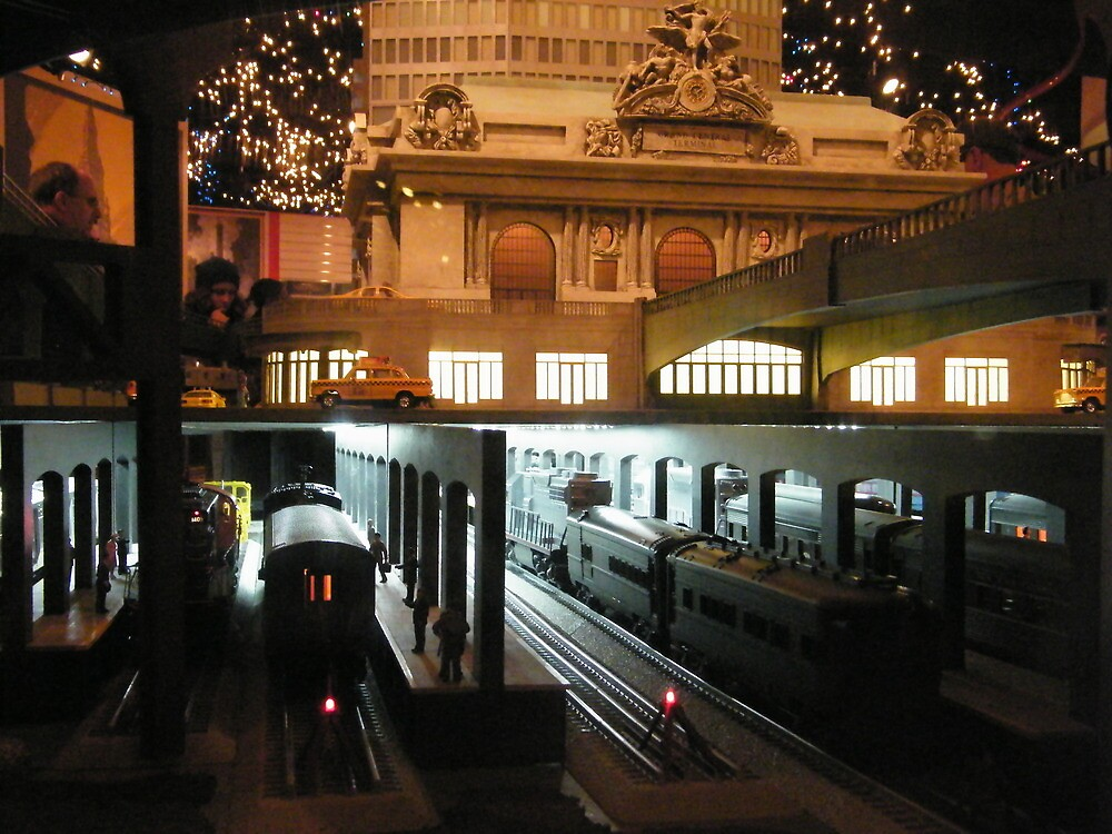 Model Trains, Model Grand Central Terminal, New York Transit Museum Annex Train Show  by lenspiro