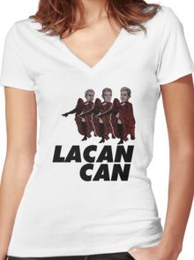 Lacan-Can Women's Fitted V-Neck T-Shirt