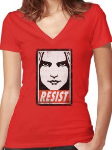 RESIST Women's Fitted V-Neck T-Shirt