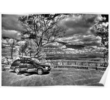 Subaru on Mt Dale, IR Poster