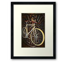Demon path racer bicycle Framed Print
