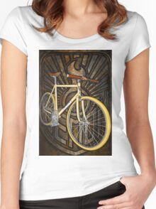 Demon path racer bicycle Women's Fitted Scoop T-Shirt