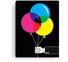 CMYK Balloons Canvas Print