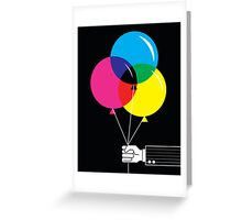 CMYK Balloons Greeting Card