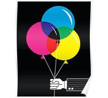 CMYK Balloons Poster