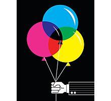 CMYK Balloons Photographic Print