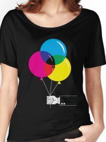 CMYK Balloons Women's Relaxed Fit T-Shirt