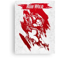Run Wild (Red/White) Canvas Print