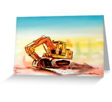 Dozer October Greeting Card