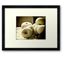Fuji Apples Framed Print