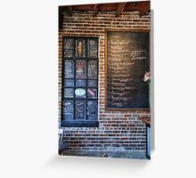 What's on the menu? Greeting Card