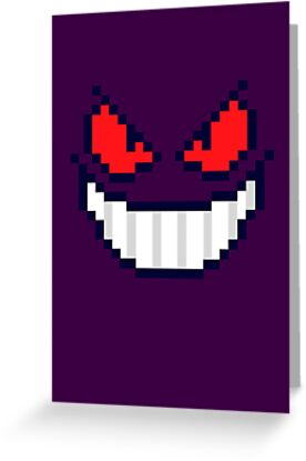 Gengar Face 8bit by soulthrow