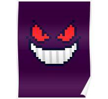 Gengar Face 8bit Poster