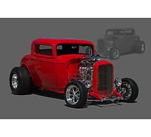 """1932 Ford """"Three Widow Coupe"""" Hot Rod Photographic Print"""