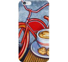 Red Electra Delivery Bicycle Cappuccino and Amaretti iPhone Case/Skin