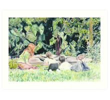 Pond Gazing Art Print