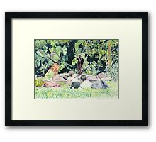 Pond Gazing Framed Print