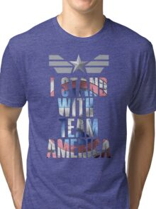 I Stand With Team America Tri-blend T-Shirt