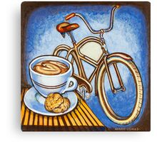Brown Electra delivery bicycle coffee and amaretti Canvas Print
