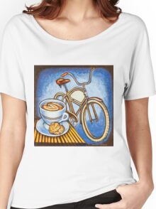 Brown Electra delivery bicycle coffee and amaretti Women's Relaxed Fit T-Shirt