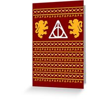 A Gryffindor Holiday Greeting Card