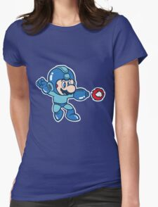 Mega Mario Womens Fitted T-Shirt