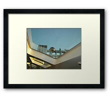 tele station from the boat view Framed Print