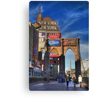 Towers and bridges Canvas Print