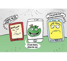 Apple HTC hp smartphones en caricature Photographic Print
