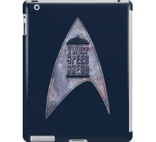 VWORP SPEED AHEAD (alternate) iPad Case/Skin